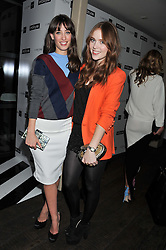 Left to right, LAURA JACKSON and ANGELA SCANLON at the InStyle Best of British Talent Event in association with Lancôme and Avenue 32 held at The Rooftop Restaurant, Shoreditch House, Ebor Street, London E1 on 30th January 2013.