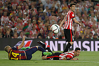 Barcelona´s Mascherano (L) and Athletic de Bilbao´s Aritz Aduriz during 2014-15 Copa del Rey final match between Barcelona and Athletic de Bilbao at Camp Nou stadium in Barcelona, Spain. May 30, 2015. (ALTERPHOTOS/Victor Blanco)
