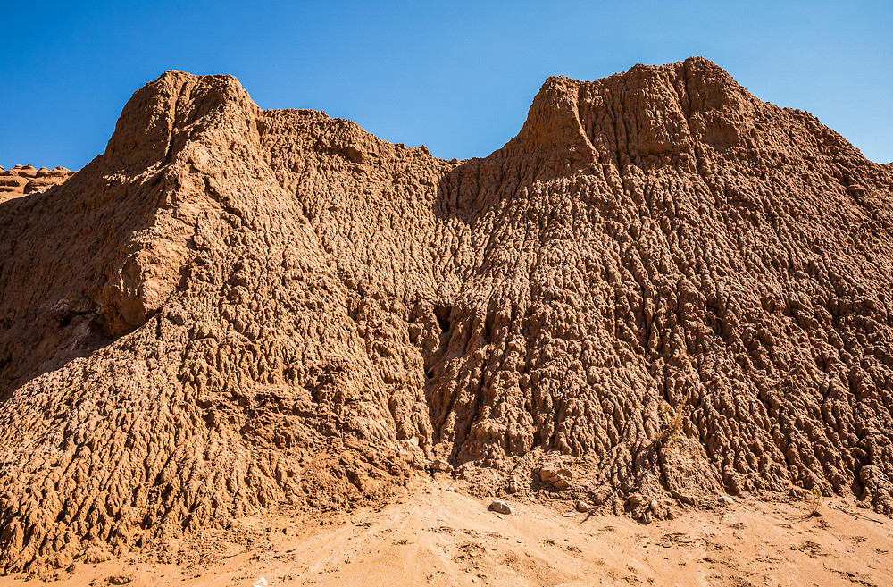 Eroded landforms in a gully Kodachrome Basin State Park, Utah, USA.