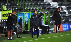 Walsall manager Darrell Clarke gestures- Mandatory by-line: Nizaam Jones/JMP - 03/10/2020 - FOOTBALL - the innocent [insert name here] stadium - Nailsworth, England - Forest Green Rovers v Walsall - Sky Bet League Two