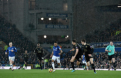 Everton's Theo Walcott in action