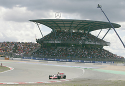 File photo dated 22-07-2007 of Lewis Hamilton, McLaren Mercedes, during the European Formula One Grand Prix at the Nurburgring, Germany.