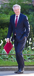 Downing Street, London, April 25th 2017. Secretary of State for Exiting the European Union David Davis attends the weekly cabinet meeting at 10 Downing Street in London. Credit: ©Paul Davey