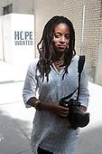 Photographer Kay Hickman celebrates the opening of Hope Wanted: New York City Under Quarantine