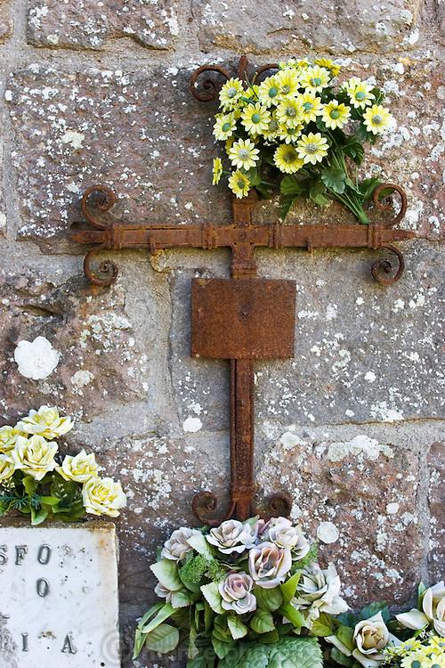 Cemetery in Radicofani, Italy (near Pienza).