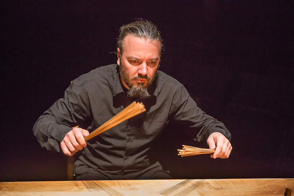 The American premiere of The Table (Stolik), performed by the Polish ensemble Karbido, from Wroclaw, Poland, part of the 2013 Next Wave Festival at the Brooklyn Academy of Music.