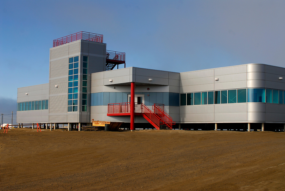 Alaska, Barrow. Barrow Global Climate Change Research Facility, owned by UIC, an Iñupiaq coorporation . July 2007