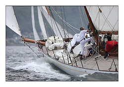 Day one of the Fife Regatta, Round Cumbraes Race.<br /> Latifa, 8, Mario Pirri, ITA, Bermudan Yawl, Wm Fife 3rd, 1936<br /> <br /> * The William Fife designed Yachts return to the birthplace of these historic yachts, the Scotland's pre-eminent yacht designer and builder for the 4th Fife Regatta on the Clyde 28th June–5th July 2013<br /> <br /> More information is available on the website: www.fiferegatta.com