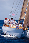 Vortex sailing in the Windward Race at the Antigua Classic Yacht Regatta.