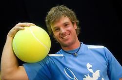 Blaz Kavcic, najboljsi slovenski teniski igralec na ATP lestvici na okrogli mizi O slovenskem tenisu v organizaciji Sportforum Slovenija, on May 17, 2011 in BTC, Ljubljana, Slovenia. (Photo By Vid Ponikvar / Sportida.com)
