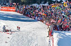 28.02.2019, Seefeld, AUT, FIS Weltmeisterschaften Ski Nordisch, Seefeld 2019, Nordische Kombination, Langlauf, im Bild v.l. Franz-Josef Rehrl (AUT), Jarl Magnus Riiber (NOR) // f.l. Franz-Josef Rehrl of Austria and Jarl Magnus Riiber of Norway during the Cross Country Competition of Nordic Combined for the FIS Nordic Ski World Championships 2019. Seefeld, Austria on 2019/02/28. EXPA Pictures © 2019, PhotoCredit: EXPA/ Stefan Adelsberger