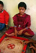 Children playing Carron - Kerala India