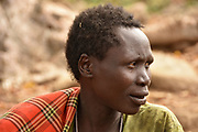 Portrait of a young Hadzabe (Hadza) man. Photogrphed at Lake Eyasi, Tanzania