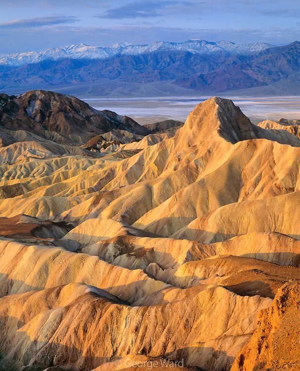 Manley Beacon from Zabriskie Point at Dawn, Death Valley National Park, California