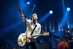 © Licensed to London News Pictures . 05/06/2015 . Manchester , UK . THE COURTEENERS on stage . Evening concerts featuring headliners , The Courteeners , playing a homecoming gig , at Heaton Park in Manchester in front of 25,000 people , the evening before the Parklife music festival . Photo credit : Joel Goodman/LNP