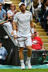 © Licensed to London News Pictures. 28/06/2016. ANDREW MURRAY plays a first round match against LIAM BRODY on the second day of the WIMBLEDON Lawn Tennis Championships in London, UK. Photo credit: Ray Tang/LNP