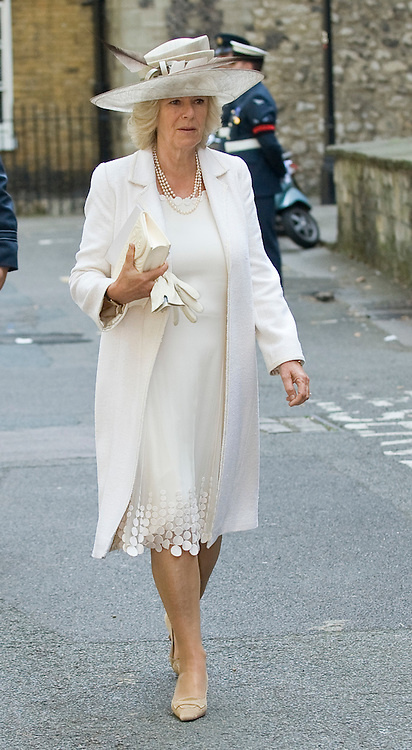 London Sep 21st   Westminster Abbey  The Prince of Wales, Patron, Battle of Britain Fighter Association, accompanied by The Duchess of Cornwall, attends the Battle of Britain Service of Thanksgiving and Rededication, Westminster Abbey,