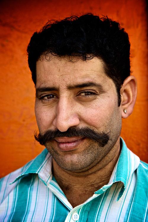 Rajasthani Man in the street of Jaipur, India.