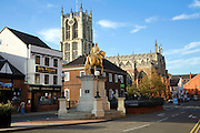 King William statue and Holy Trinity church, Hull, Yorkshire, England