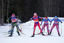 Laura Gimmler (GER) and Heidi Weng (NOR) during the ladies team sprint race at FIS Cross Country World Cup Planica 2016, on January 17, 2016 at Planica, Slovenia. Photo By Urban Urbanc / Sportida