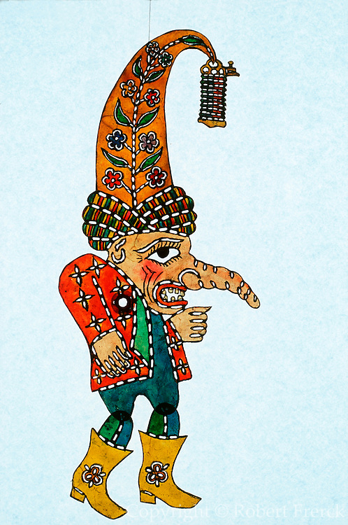 TURKEY, TURKISH CULTURE KARAGOZ; the traditional Turkish shadow puppet theatre; Beberuhi is the character of the dwarf