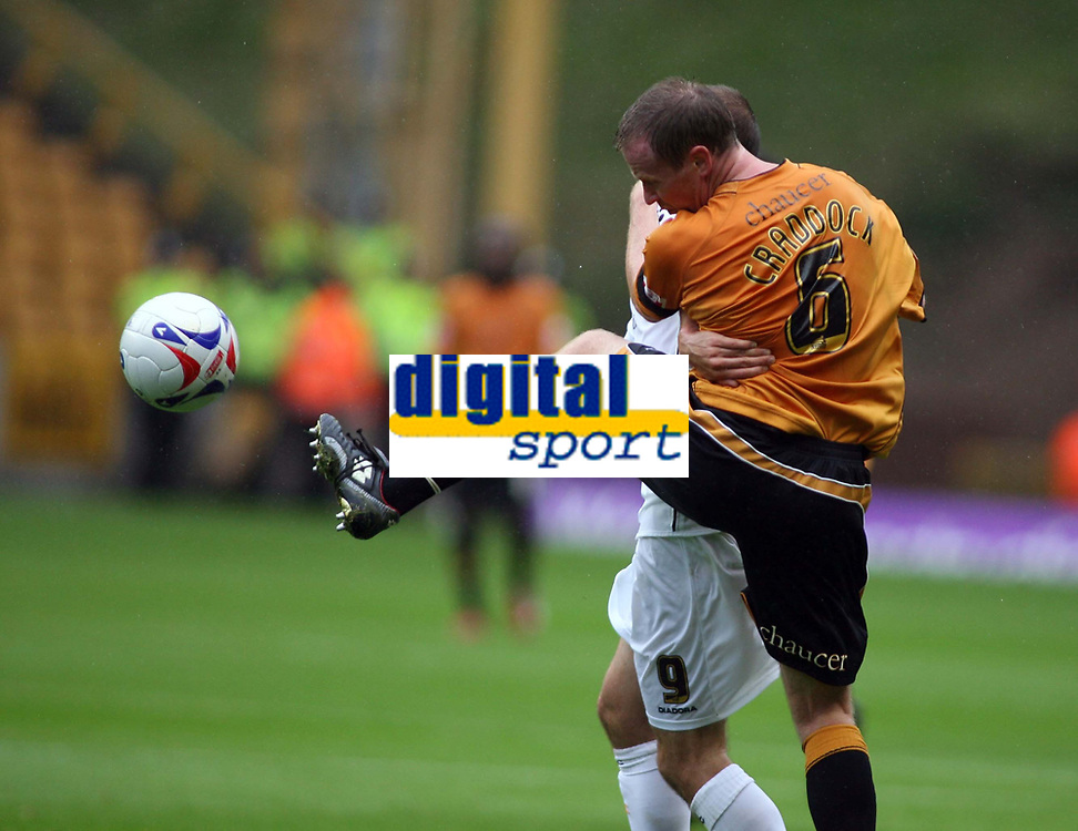 Photo: Rich Eaton.<br /> <br /> Wolverhampton Wanderers v Luton Town. Coca Cola Championship. 26/08/2006. Jody Craddock, captain of Wolves goes for the ball