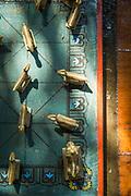 Close-up of board game detail, Reni Pani Jungle Lodge, Madhya Pradesh, India