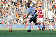 Fulham midfielder Floyd Ayite (11) looks for an option to pass during the EFL Sky Bet Championship match between Fulham and Aston Villa at Craven Cottage, London, England on 17 February 2018. Picture by Andy Walter.