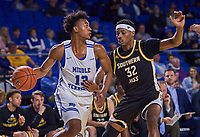 Middle Tennessee Blue Raiders guard Jayce Johnson (13) during the Southern Mississippi Golden Eagles at Middle Tennessee Blue Raiders college basketball game in Murfreesboro, Tennessee, Saturday, March, 7, 2020.<br /> Photo: Harrison McClary/All Tenn Sports