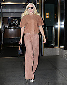 Lady Gaga leaves her apartment