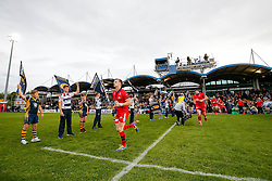 Bristol Rugby Scrum-Half Dwayne Peel (capt) leads his side out to the pitch - Photo mandatory by-line: Rogan Thomson/JMP - 07966 386802 - 27/05/2015 - SPORT - Rugby Union - Worcester, England - Sixways Stadium - Worcester Warriors v Bristol Rugby - Greene King IPA Championship Play-Off Final 2nd Leg.