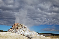 White Dome Geyser Cone, As its' name suggests White Dome has an impressive cone inYellowstone National Park