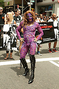 Elaboratel costumed participant in the 2011 Pride Parade in New York.