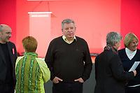 DEU, Deutschland, Germany, Berlin, 10.12.2016: Thomas Nord, Bundesschatzmeister von Die Linke, beim Landesparteitag von Die Linke im WISTA-Veranstaltungszentrum Adlershof.