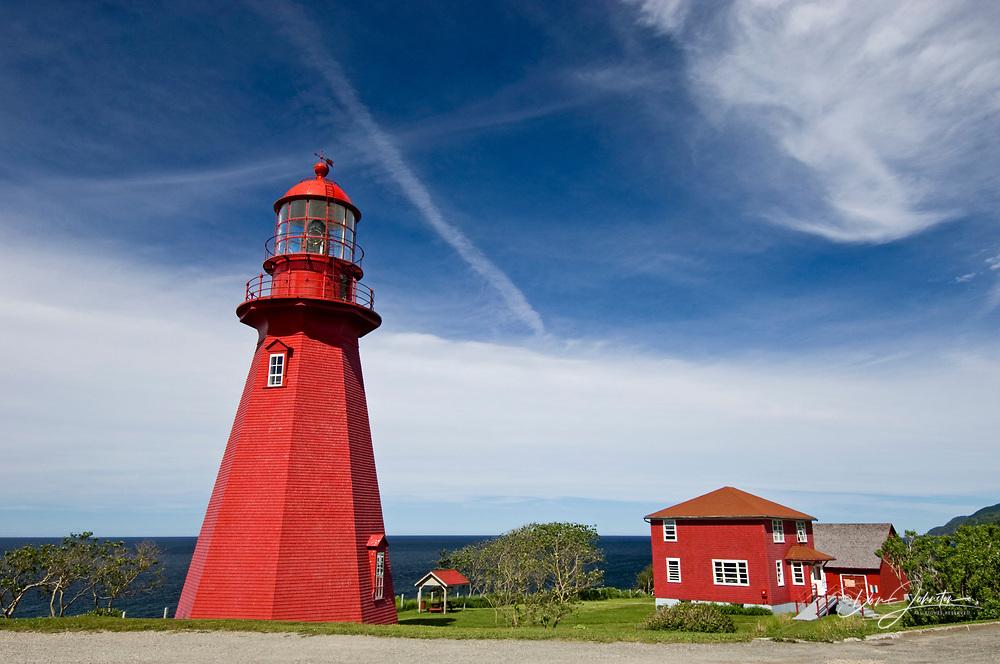 Red lighhouse at La Martre, La Martre, QC, Canada