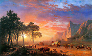Albert Bierstadt (1830 – 1902) German-American painter and a leading artist within the Hudson River School of American landscape painters. The Oregon Trail, 1869