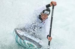 Alja Kozorog of Slovenia competes  during the Kayak Single (C1) Women race of European Open Canoe Slalom Cup on April 18, 2021 in Tacen, Ljubljana, Slovenia. Photo by Vid Ponikvar / Sportida