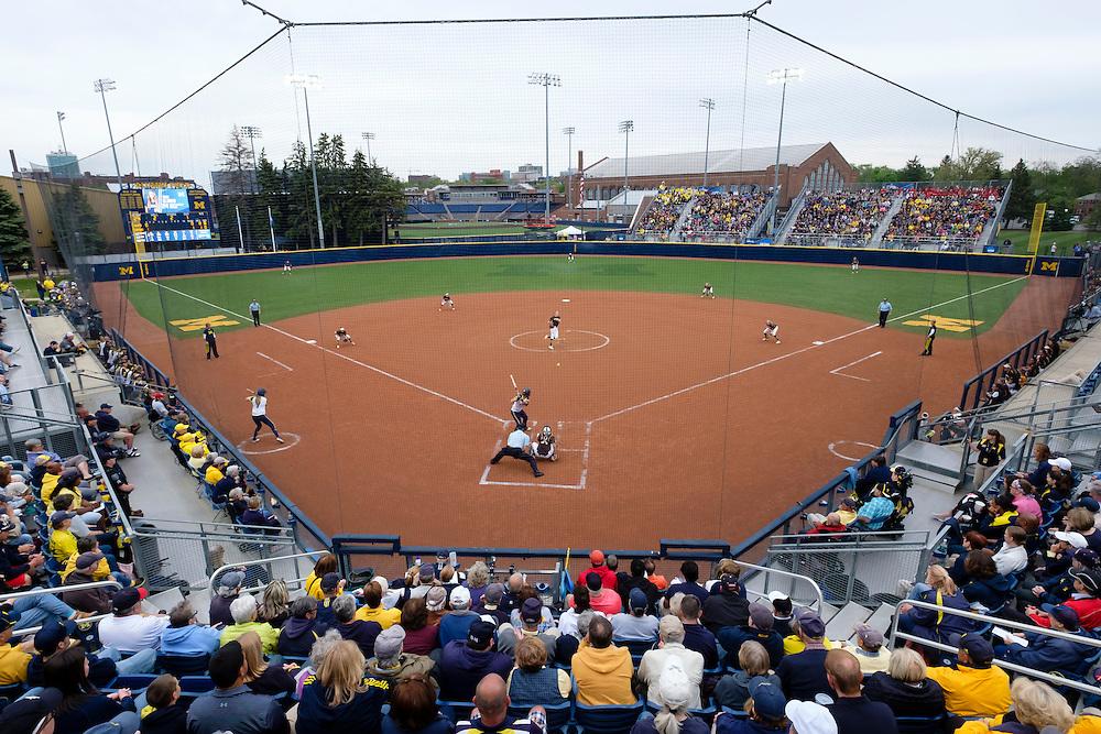 Friday, May 20, 2016; Ann Arbor, MI: NCAA Regional Softball. Mandatory Credit: Rick Osentoski