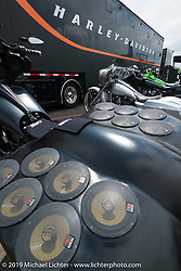 Insane audio system on a Harley-Davidson dresser at Black Hills Harley-Davidson during the annual Sturgis Black Hills Motorcycle Rally. SD, USA. August 5, 2014.  Photography ©2014 Michael Lichter.