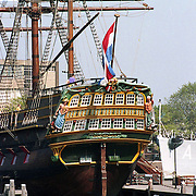 """NLD/Amsterdam/19910902 - VOC schip """"Amsterdam"""" in Amsterdam"""