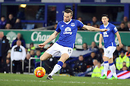 Tom Cleverley of Everton tries a shot at goal. Barclays Premier League match, Everton v Newcastle United at Goodison Park in Liverpool on Wednesday 3rd February 2016.<br /> pic by Chris Stading, Andrew Orchard sports photography.