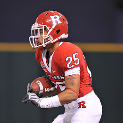 Dec 19, 2009; St. Petersburg, Fla., USA; Rutgers cornerback Brandon Jones (25) returns a kickoff during NCAA Football action in Rutgers' 45-24 victory over Central Florida in the St. Petersburg Bowl at Tropicana Field.