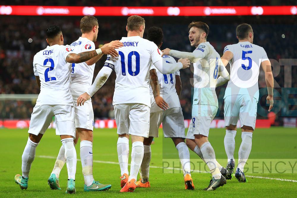 Wayne Rooney of England celebrates scoring - England vs. Slovenia - UEFA Euro 2016 Qualifying - Wembley Stadium - London - 15/11/2014 Pic Philip Oldham/Sportimage