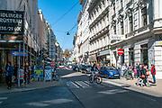 Neubaugasse street in district 7, Vienna, Austria