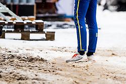 January 2, 2018 - Oberstdorf, GERMANY - 180102 A swedish athlete walk in dirty snow ahead of a training session during Tour de Ski on January 2, 2018 in Oberstdorf..Photo: Jon Olav Nesvold / BILDBYRN / kod JE / 160117 (Credit Image: © Jon Olav Nesvold/Bildbyran via ZUMA Wire)