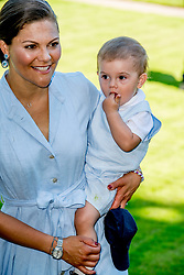 Crown Princess Victoria and her son Prince Oscar during the traditionally celebration of Crown Princess Victoria's birthday at the royal family's summer residence, Solliden Palace in Borgholm, Öland, Sweden, on July 15, 2017, a day later Stockholm celebration. Photo by Robin Utrecht/ABACAPRESS.COM