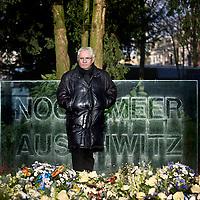 Nederland, Amsterdam , 4 februari 2014.<br /> Jaques Grishaver, Voorzitter Nederlands Auschwitz Comité bij het Auschwitz monument.<br /> Foto:Jean-Pierre Jans