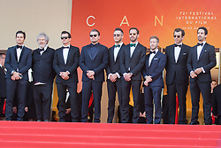 Orlando Bloom, Leonardo DiCaprio and Alejandro Agag with cast and crew members attends The TraitorRed Carpet during 72nd Cannes film festival on May 23, 2019 in Cannes, France. Photo by Nasser Berzane/ABACAPRESS.COM
