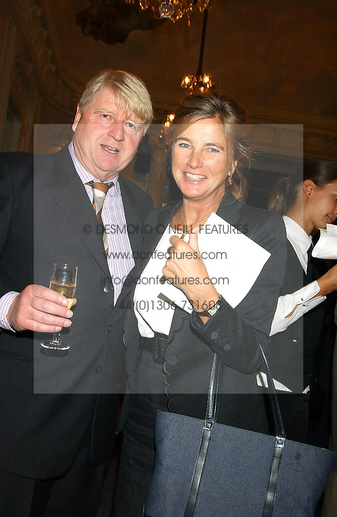 STANLEY JOHNSON the MARCHIONESS OF DOURO at a party to celebrate the publication of 'Princesses' the six daughters of George 111 by Flora Fraser held at the Saville Club, Brook Street, London W1 on 14th September 2004.<br />