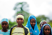 Refugee girls from Central African Republic in the village of Tongo Gandima, near Bertoua, Cameroon, on Tuesday September 15, 2009.